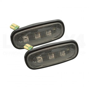 Boční blikač čirý LED, SADA